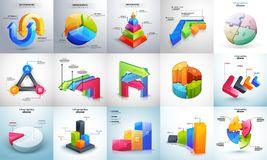 3D colorful, multiple levels Timeline Infographic set. For Business concept Stock Photography