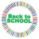 3d colorful pencils and back to school text Royalty Free Stock Photography