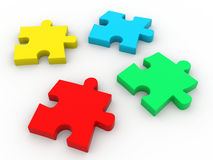 3d Colorful puzzle Stock Image
