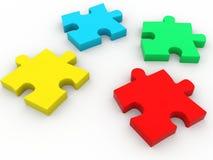 3d Colorful puzzle Stock Images