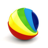 3d colorful sphere. On white background Royalty Free Stock Images