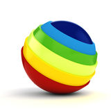 3d colorful sphere Royalty Free Stock Photos