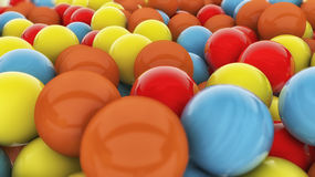 3D colorful spheres. 3D varied colorful spheres background Stock Photography