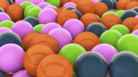 3D colorful spheres. 3D varied colorful spheres background Royalty Free Stock Images