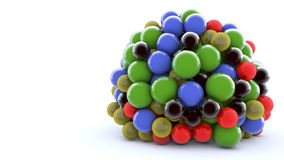 3D colorful spheres. And white background Stock Photography