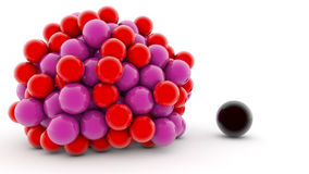 3D colorful spheres Stock Image