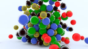 3D colorful spheres Stock Images