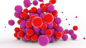 3D colorful spheres. And white background Stock Photos