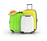 3d colorful suitcases Royalty Free Stock Photo