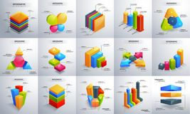 3D colorful Timeline infographic set. 3D colorful Timeline infographic set for Business concept Royalty Free Stock Images