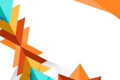 3d colorful triangle geometry left corner side, abstrack background Royalty Free Stock Image