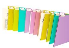 3d colorfull文件夹,在白色背景 免版税图库摄影