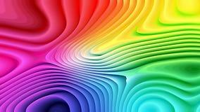 3d colorido curvó líneas texturiza el fondo stock de ilustración