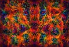 3d colorido expulsou blocos com fundo claro dramático da ilustração dos alargamentos ilustração do vetor