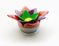 3d A colorized abstracte glasbloem op een wihteachtergrond Stock Foto's