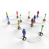 3d colors stainless human social network. As concept Stock Image