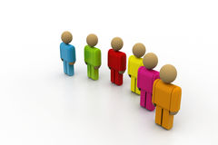 3d colour people Royalty Free Stock Images