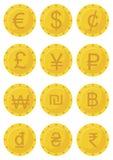 3d coloured waluty wysokiego ilustracyjnego wizerunku wielo- postanowienia symbole ilustracji