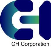 3D colourfull Logo Blue e CH verde Corporaçõ ilustração royalty free