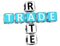 3D comércio Rate Crossword Foto de Stock Royalty Free