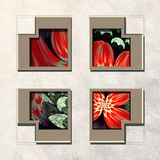 3D Combo framed fractal artwork Stock Image