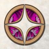3D Combo framed fractal artwork Stock Photo
