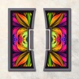 3D Combo framed fractal artwork Stock Photos
