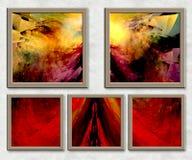3D Combo framed fractal artwork Royalty Free Stock Image