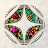 3D Combo ontworpen fractal kunstwerk Royalty-vrije Stock Afbeelding