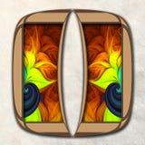 3D Combo ontworpen fractal kunstwerk Stock Fotografie