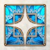 3D Combo ontworpen fractal kunstwerk Royalty-vrije Stock Afbeeldingen