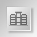 3D commercial building icon Business Concept Stock Images