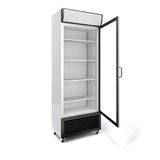 3d commercial fridge with glass door Royalty Free Stock Image
