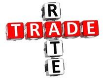 3D commercio Rate Crossword Fotografia Stock