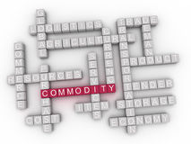 3d Commodity Concept word cloud.  Stock Photo