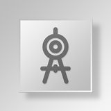 3D Compass icon Business Concept Stock Photography