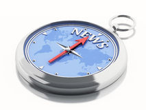 3d Compass news Royalty Free Stock Photography