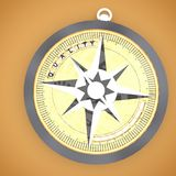 3d compass with quality text projecting  concept Royalty Free Stock Image