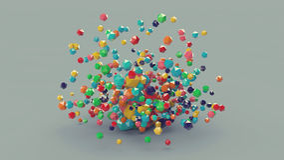 3d composición platónica colorida abstracta, fondo Fotografía de archivo libre de regalías