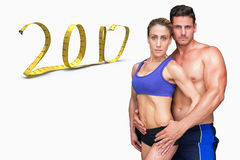 3D Composite image of bodybuilding couple Royalty Free Stock Image