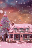 3D Composite image of snow covered house Royalty Free Stock Photography