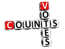 3D compte des mots croisé de votes Photos stock