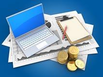 3d computer Stock Afbeelding