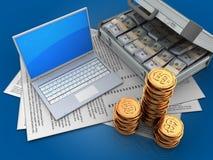3d computer Royalty-vrije Stock Afbeelding