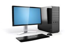 3d computer desktop Stock Photos