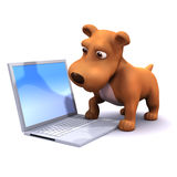 3d Computer dog Stock Images