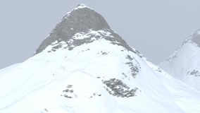 3d computer generated landscape of snow covered mountains