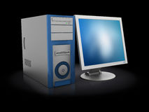 3d computer Royalty Free Stock Images