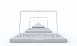 3d computer laptop Stock Photography