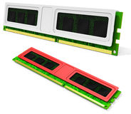 3d computer RAM memory modules Royalty Free Stock Photography